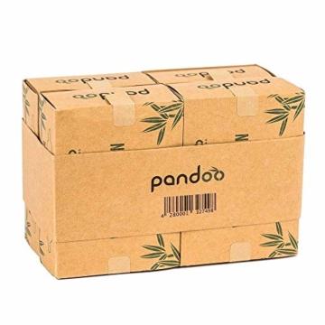 pandoo 4er Pack Bambus Wattestäbchen (800 Stück) | 100% biologisch abbaubar, vegan & nachhaltig | kompostierbare premium Wattestäbchen - 4