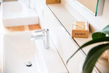 pandoo 4er Pack Bambus Wattestäbchen (800 Stück) | 100% biologisch abbaubar, vegan & nachhaltig | kompostierbare premium Wattestäbchen - 6