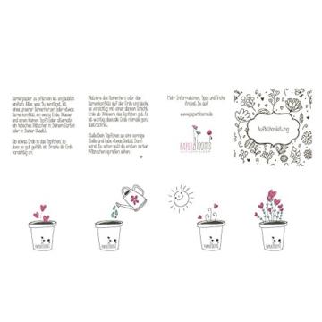PAPERBLOOMS Seedbombs - Blühende Konfetti Herzen bunt, Blumensamen als Weihnachtsgeschenk - 4