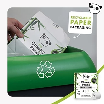 The Cheeky Panda – Toilettenpapier aus Bambus | Maxi 24er-Packung (6 Packungen mit je 4 Rollen, 3-Lagig, 200 Blatt) | Hypoallergen, Plastikfrei, Umweltfreundlich, Super Sanft, Reißfest & Nachhaltig - 2