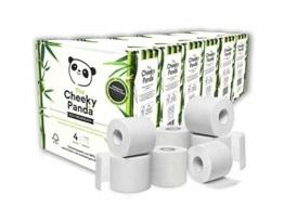 The Cheeky Panda – Toilettenpapier aus Bambus | Maxi 24er-Packung (6 Packungen mit je 4 Rollen, 3-Lagig, 200 Blatt) | Hypoallergen, Plastikfrei, Umweltfreundlich, Super Sanft, Reißfest & Nachhaltig - 1