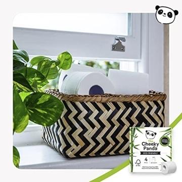 The Cheeky Panda – Toilettenpapier aus Bambus | Maxi 24er-Packung (6 Packungen mit je 4 Rollen, 3-Lagig, 200 Blatt) | Hypoallergen, Plastikfrei, Umweltfreundlich, Super Sanft, Reißfest & Nachhaltig - 5