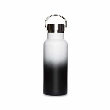 retulp fusion edelstahl trinkflasche thermosflasche schwarz weiss 500 ml 1