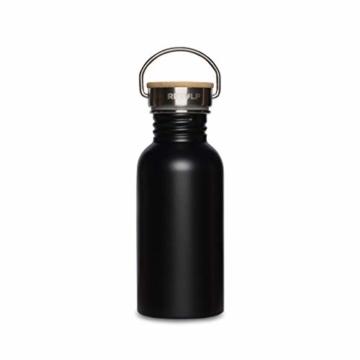 retulp urban edelstahl trinkflasche mit bambus deckel schwarz 500 ml 1