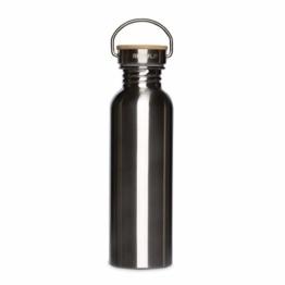 retulp urban edelstahl trinkflasche mit bambus deckel silber 750 ml 1